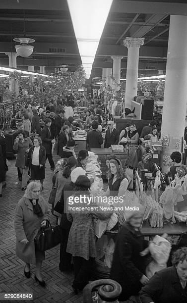 Christmas shopping in Henry Street Dublin circa December 1971
