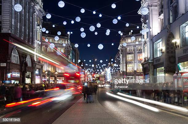 Christmas shopping Oxford street, London