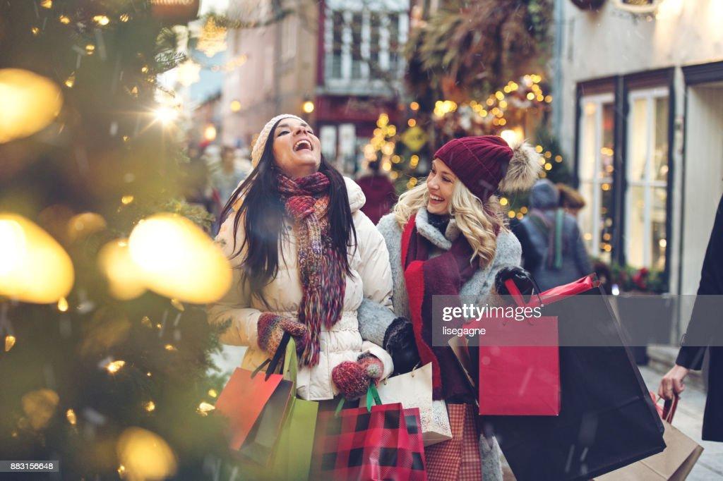 Compras de Navidad : Foto de stock