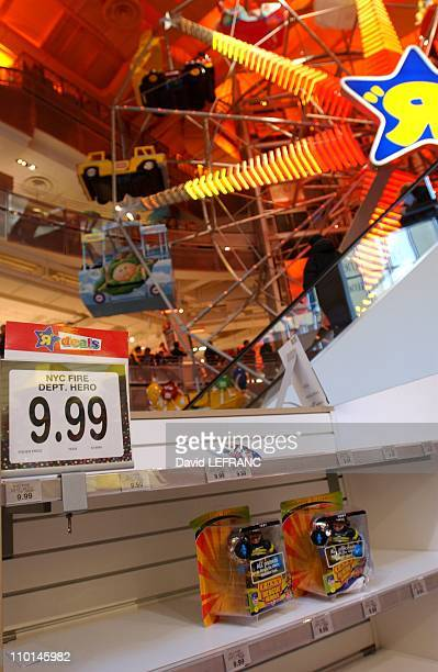 Christmas shopping season opens in New York city United States on November 23 2001 A new found sense of patriotism is seen in New York City as the...