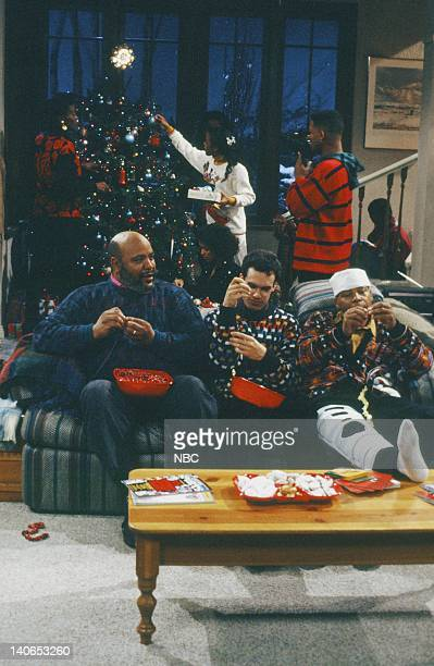 AIR Christmas Show Episode 13 Pictured Back Janet Hubert as Vivian Banks Tatyana Ali as Ashley Banks Will Smith as William 'Will' Smith Front James...