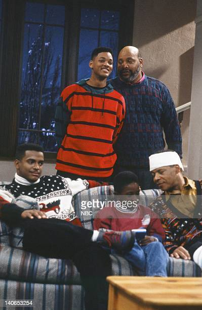 AIR Christmas Show Episode 13 Pictured Back Will Smith as William 'Will' Smith James Avery as Philip Banks Front Alfonso Ribeiro as Carlton Banks...