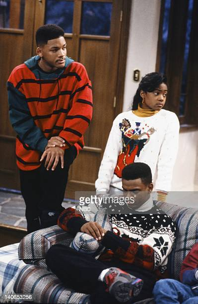 AIR 'Christmas Show' Episode 13 Pictured Will Smith as William 'Will' Smith Tatyana Ali as Ashley Banks Alfonso Ribeiro as Carlton Banks Photo by...