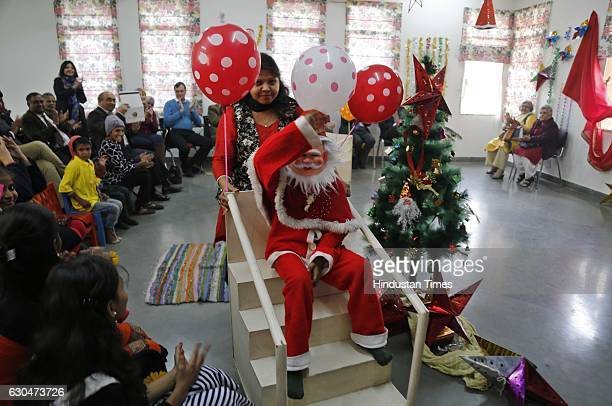 Christmas show presented by hearing impaired children and children of leprosy patients at Lepra India Trust School Jasola Vihar on December 23 2016...