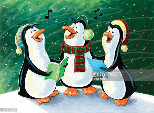 Christmas Singing Penguins