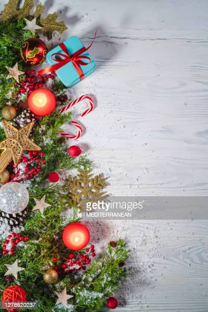 christmas snow background on rustic wite wood background - tradition stock pictures, royalty-free photos & images