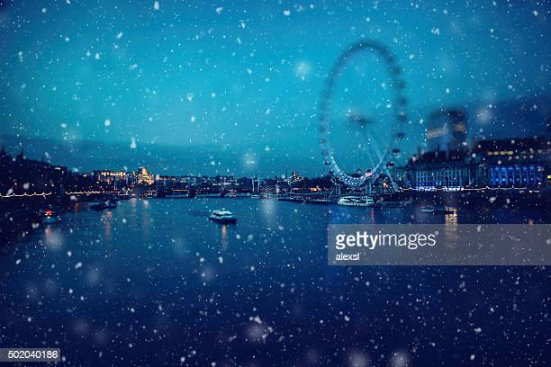 Christmas snow in London