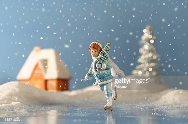 クリスマスの降雪