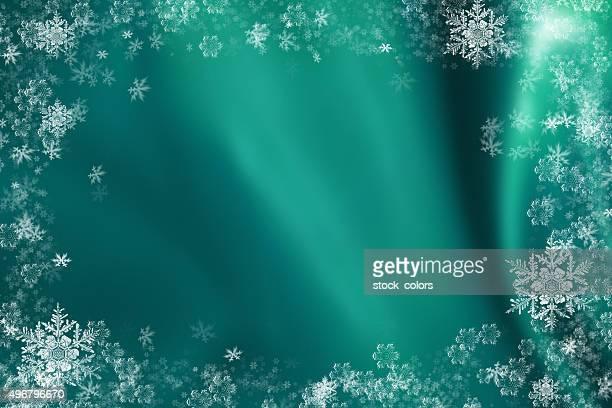 christmas snowflakes gift card