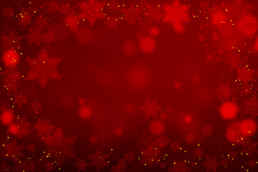 Christmas Snowflakes On Red Background 1049681110