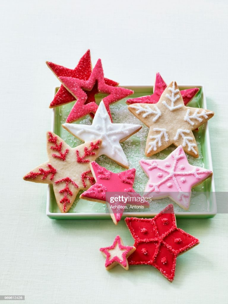 Christmas Star Biscuits Stock Photo Getty Images