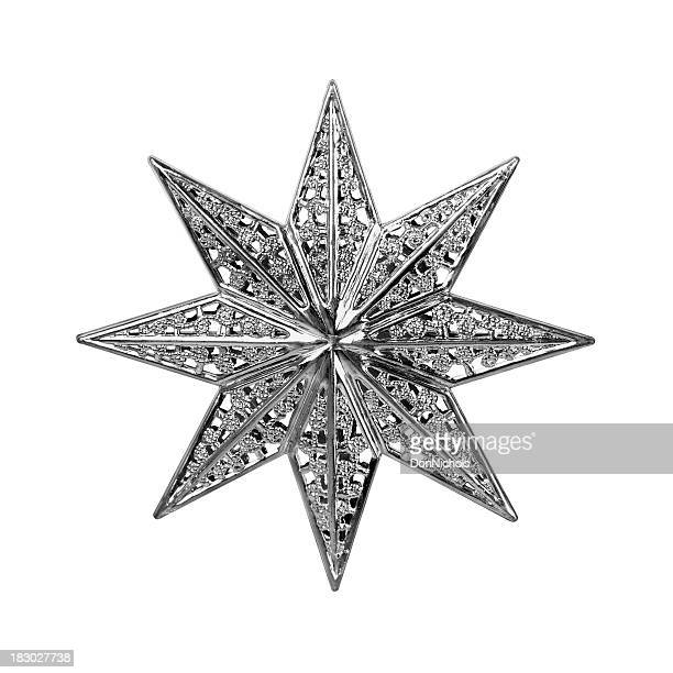 christmas star isolated - christmas star stock photos and pictures