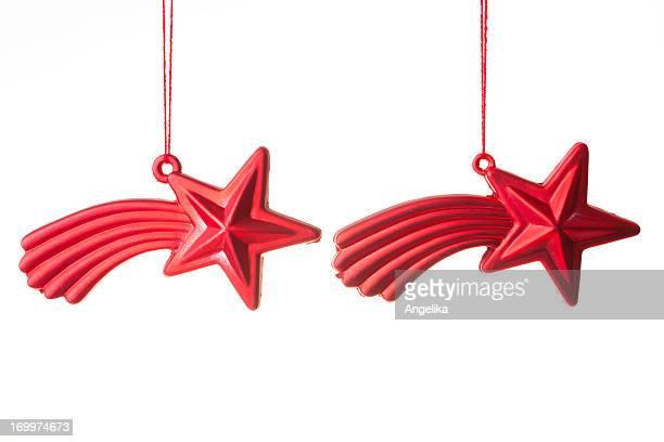 Navidad estrellas, Aislado en blanco