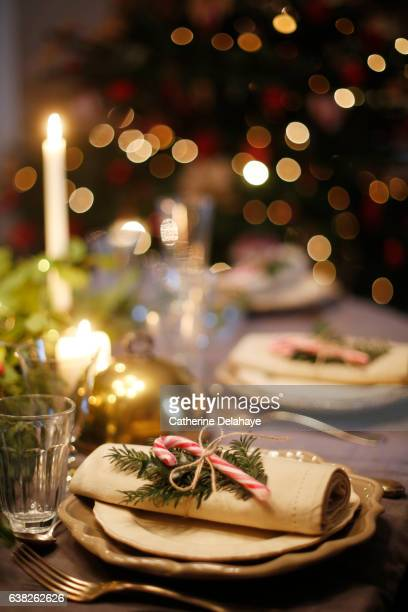Christmas still life, table set