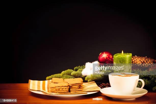 Weihnachten Stillleben mit Keksen