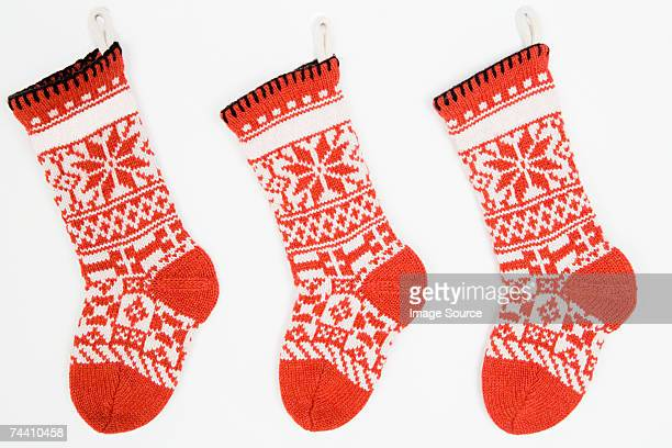Christmas stockings in a row
