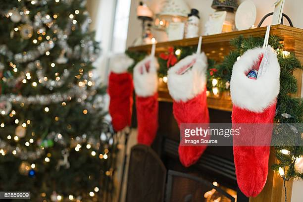 christmas stockings - christmas stocking stock pictures, royalty-free photos & images