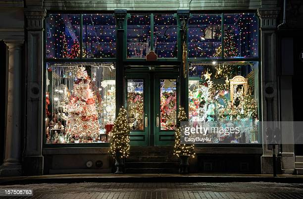 christmas store window display - facade stock pictures, royalty-free photos & images