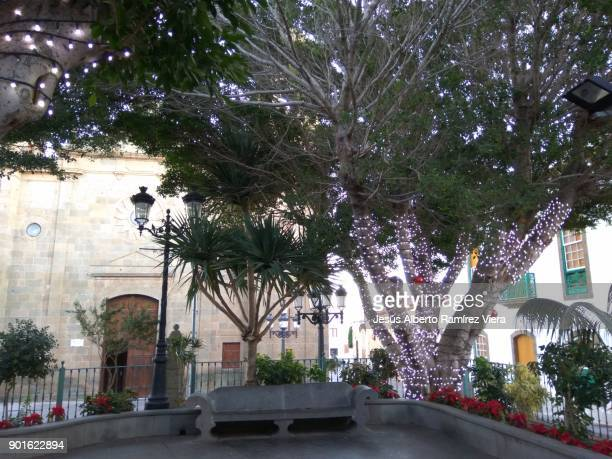 christmas street decorations in agüimes - bethlehem west bank stock pictures, royalty-free photos & images
