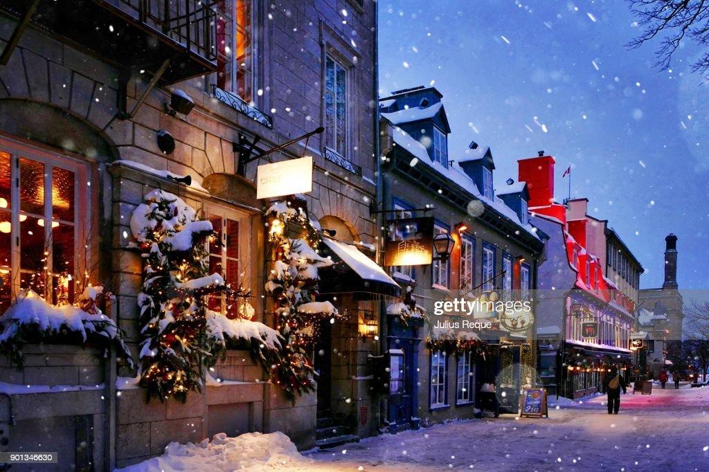 Christmas Street Decorations : Stock Photo