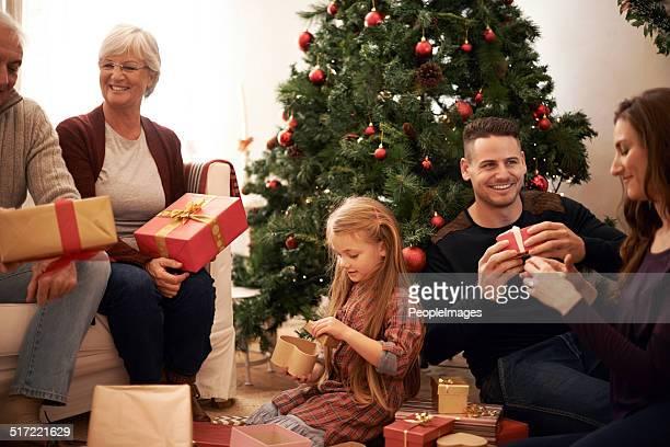 Natal rodeada por Família