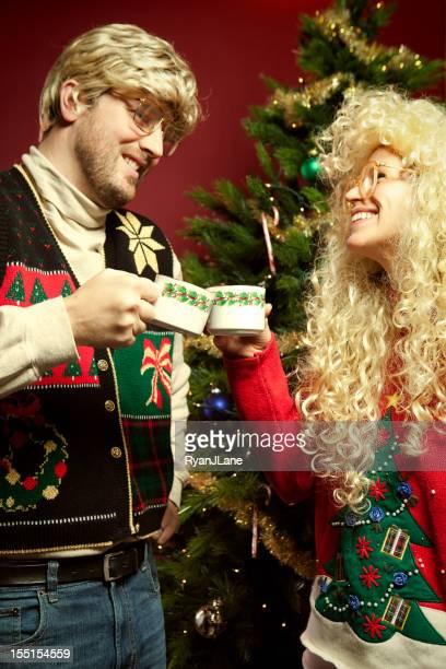 Pull de Noël années Couple