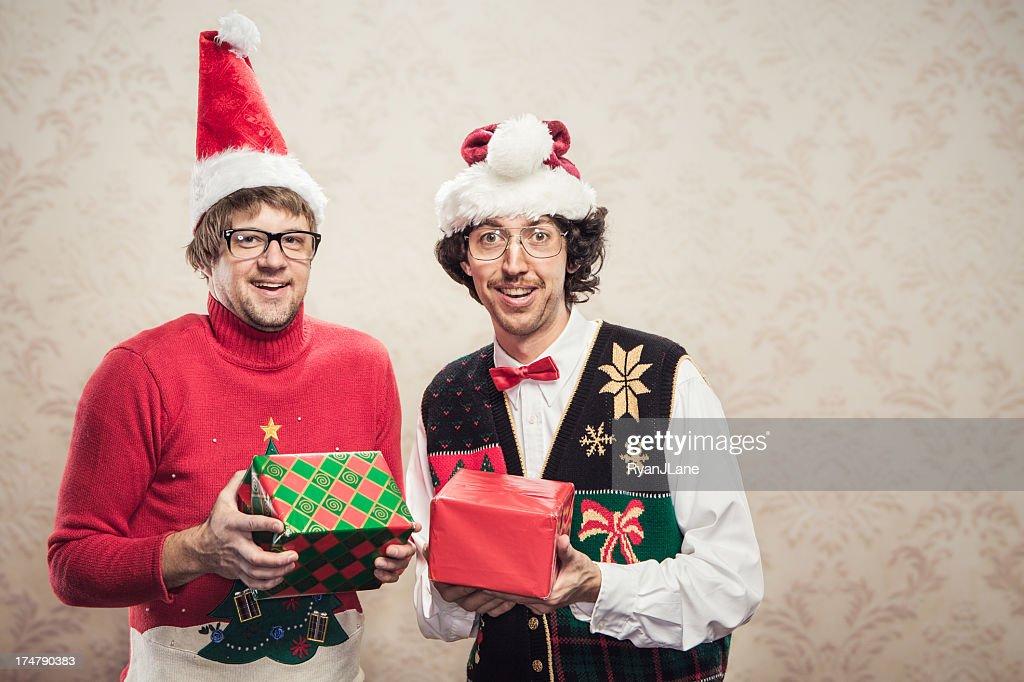 Christmas Sweater Nerds : Stock Photo
