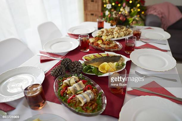 christmas table is waiting for the quests . debica, poland - polish culture stock photos and pictures
