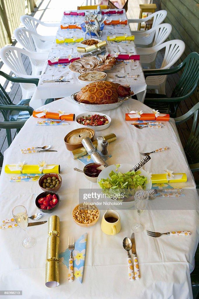 Christmas table set up Australia  Stock Photo & Christmas Table Set Up Australia Stock Photo   Getty Images