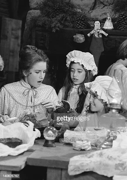 PRAIRIE A Christmas They Never Forgot Episode 11 Aired 12/21/81 Pictured Melissa Gilbert as Laura Elizabeth Ingalls Wilder Missy Francis as Cassandra...