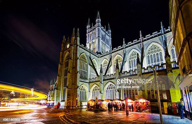 christmas time at bath, somerset, england - bath england stock photos and pictures