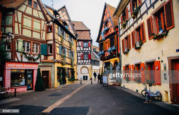 christmas time in colmar, alsace, france - colmar stock photos and pictures