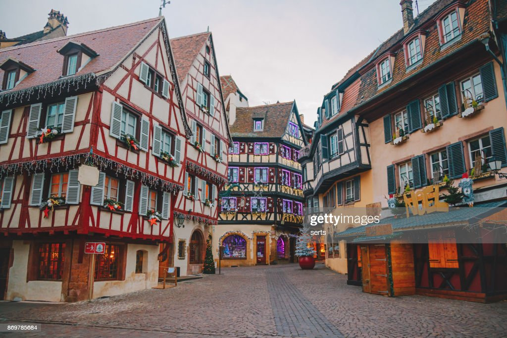 Christmas time in Colmar, Alsace, France : Stock Photo