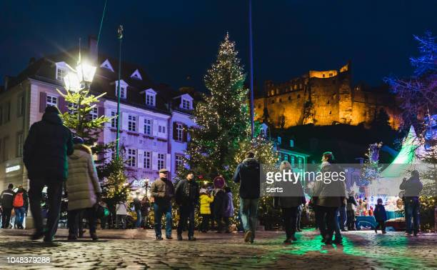 christmas time in heidelberg, germany - heidelberg stock photos and pictures