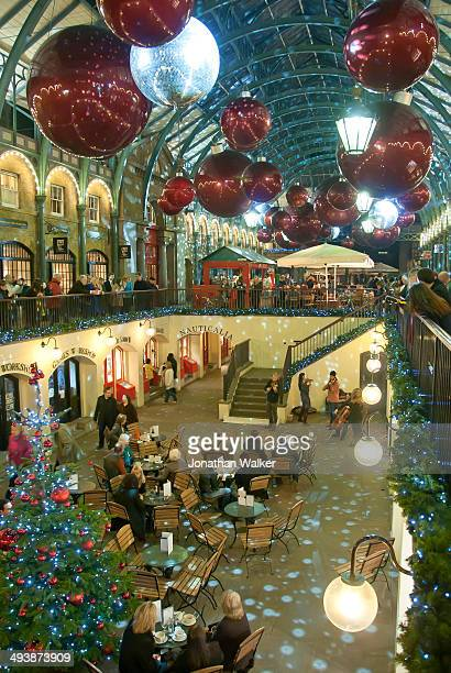 Christmas time in London's famous Covent Garden Market