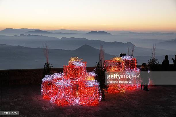 christmas time in san marino republic - republic of san marino stock pictures, royalty-free photos & images