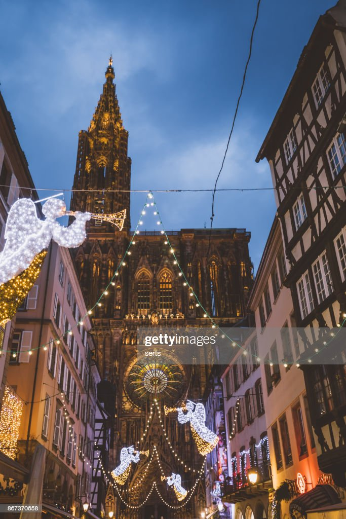 Strasbourg France Christmas Time.Christmas Time In Strasbourg France High Res Stock Photo