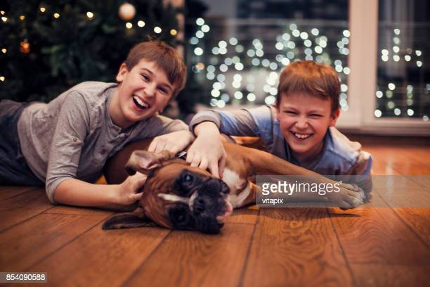 christmas time - only boys photos stock photos and pictures