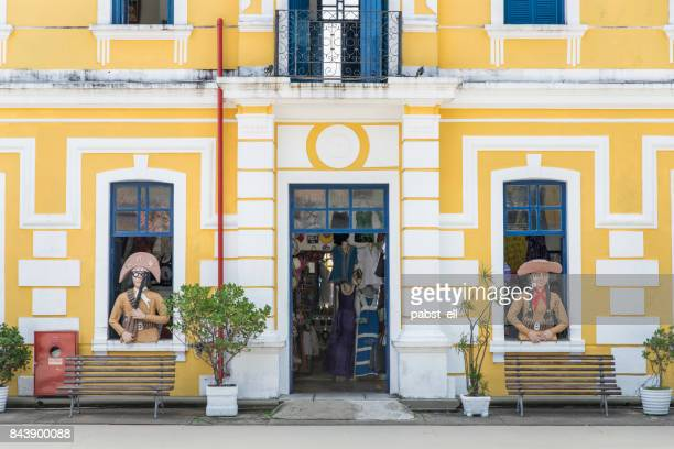 christmas tourism center internal cangaceiro facade - natal brazil stock pictures, royalty-free photos & images