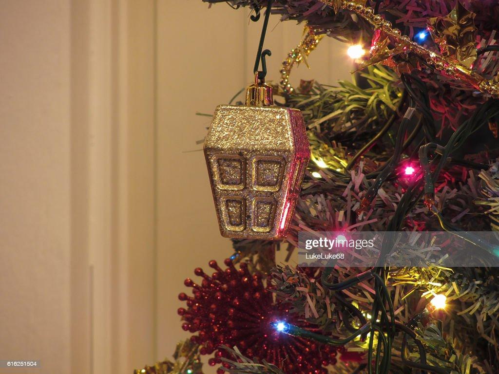 Christmas tree and Christmas decorations : Stock Photo
