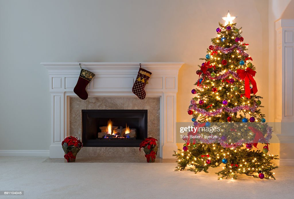 Christmas Tree At Home : Stock Photo