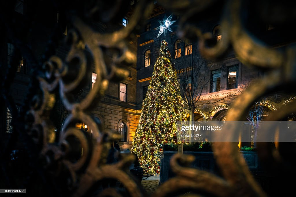 Christmas Tree At Lotte New York Palace Hotel Stock Photo | Getty Images