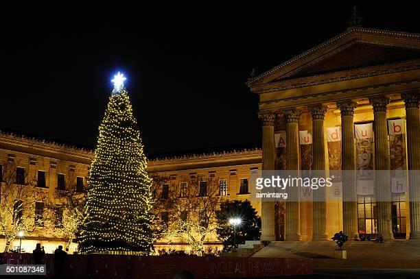 Weihnachtsbaum im Philadelphia Museum of Art