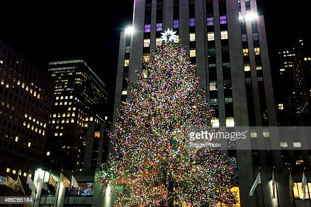 Rockefeller Center Christmas Tree Stock Photos and Pictures ...