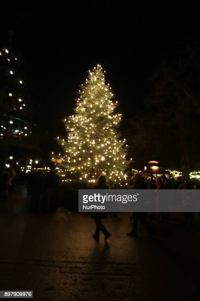 Christmas tree at the last Day of the Christmas Market at quotChinesischer Turmquot in Munich on December 23 2017