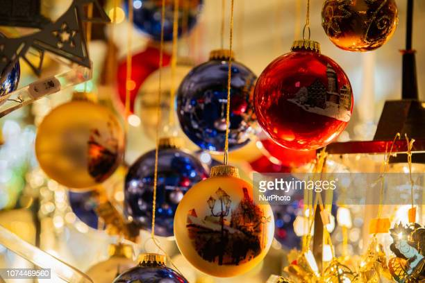 CHristmas tree balls with pictures of Nuremberg Christmas Time in the Nuremberg downtown