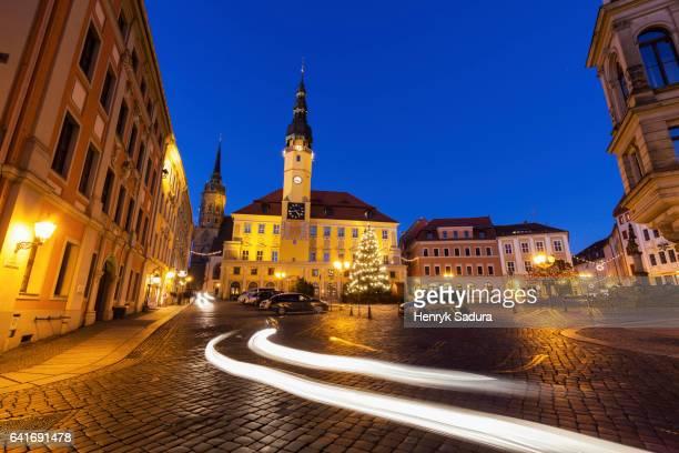 Christmas tree by City Hall in Bautzen