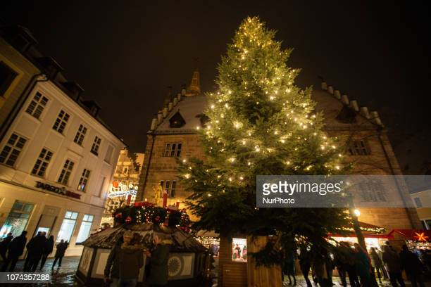 Christmas Tree Christmas Market in the Northern Bavarian town of Ansbach