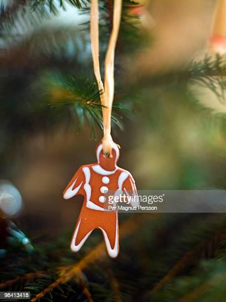 Christmas tree decoration close-up.