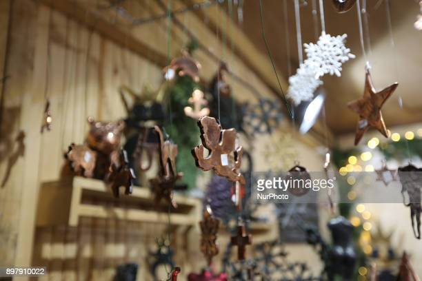Christmas tree decorations Last Day of the Christmas Market at quotChinesischer Turmquot in Munich on December 23 2017